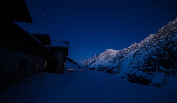 Notturna sul Monte Bianco