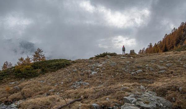 Autunno – salita ai Laghi Estoul